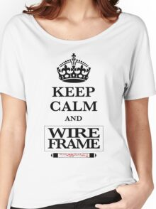 Keep Calm and Wireframe Women's Relaxed Fit T-Shirt