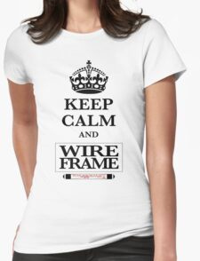 Keep Calm and Wireframe Womens Fitted T-Shirt