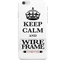 Keep Calm and Wireframe iPhone Case/Skin