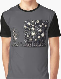 Alien Space Monster Tentacle Action Graphic T-Shirt