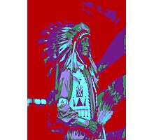 Indian Chief Pop Art Photographic Print