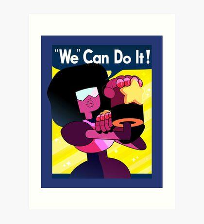 """""""We"""" Can Do it! // Garnet Steven Universe Poster Art Print"""