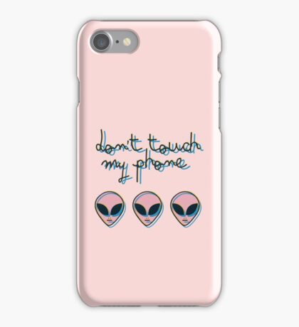 Don't Touch My Phone // Alien 3D Vaporwave Indie iPhone Case/Skin