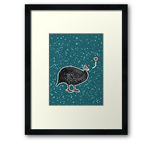 Guinea Fowl love Framed Print
