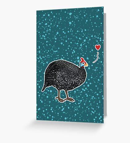 Guinea Fowl love Greeting Card