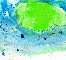 Green Blue Art - Making Waves - By Sharon Cummings by Sharon Cummings