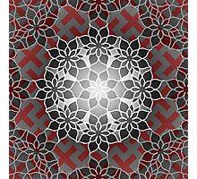 Octagonal Floral Mandala Sayagata Layered Photographic Print