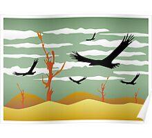 Free Bird Illustration Poster