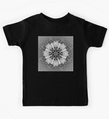 Octagonal Floral Mandala Sayagata Layered 2 Kids Tee