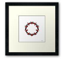 Red Flower Circle Framed Print
