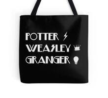 Potter, Weasley, Granger Tote Bag