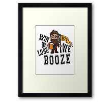 Win or Lose, We Booze - WVU Framed Print