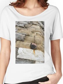 The Hanging Jar - Rough Weathered Stones, Rust and Ceramics - a Vertical View Women's Relaxed Fit T-Shirt