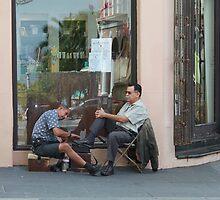 Shoe Shine in SanJuan, Puerto Rico by Scott Larson