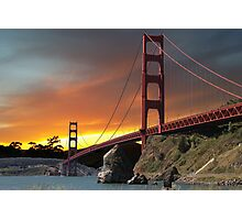 Golden Gate Bridge Sunset Photographic Print