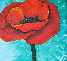 Red Poppy by bluegirldesign