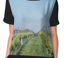 Vineyard rows Chiffon Top