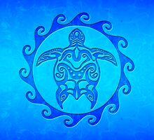 Blue Maori Turtle by BailoutIsland