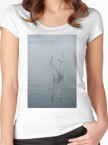 Graphical Watergrass Reflections Women's Fitted Scoop T-Shirt