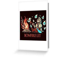 Cute Bonfire Lit  Greeting Card