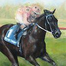 Champion Racehorse, Black Caviar by Nina Smart