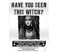 Wanted - Bellatrix Lestrange Poster