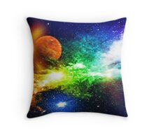 Out for a walk around the galaxy Throw Pillow