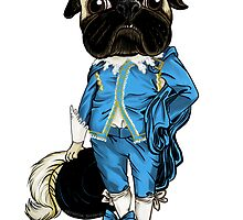 Pug Blueboy by Veronica Guzzardi