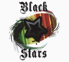 Ghana Black Stars World Cup T-shirt by mikehene