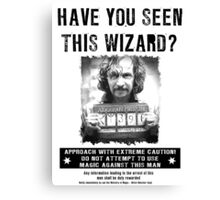 Wanted - Sirus Black Canvas Print