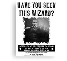 Wanted - Voldermort Canvas Print