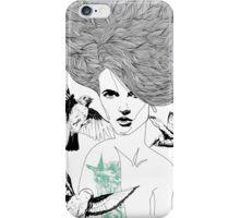 Birdie - Fineliner Illustration iPhone Case/Skin
