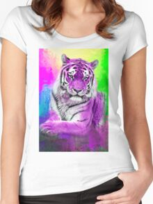 Tiger purple Women's Fitted Scoop T-Shirt