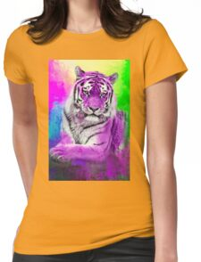 Tiger purple Womens Fitted T-Shirt