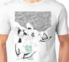 Birdie - Fineliner Illustration Unisex T-Shirt