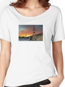 Golden Gate Bridge Sunset Women's Relaxed Fit T-Shirt
