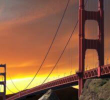 Golden Gate Bridge Sunset Sticker