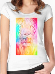 Tiger red Women's Fitted Scoop T-Shirt