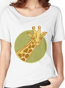 hand drawn giraffe Women's Relaxed Fit T-Shirt