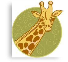 hand drawn giraffe Canvas Print