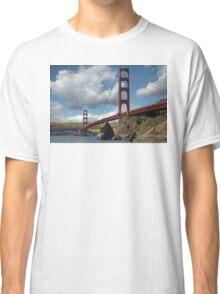 Golden Gate Bridge Corn Field Classic T-Shirt