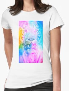 Tiger blue Womens Fitted T-Shirt