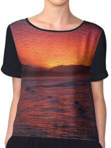 Byron Bay Sunset2 10Jun16 Chiffon Top