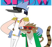 Mordecai & Rigby Miami Vice by signhunter