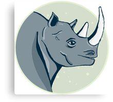 hand drawn rhinoceros Canvas Print