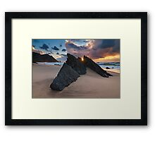 Guardians of Adraga Framed Print
