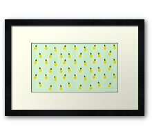 Graphic Pineapple Framed Print