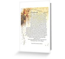 desiderata poem=angelic Greeting Card
