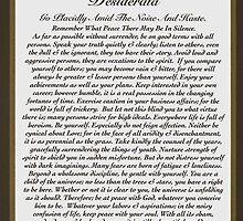 desiderata poem, elegant masculine by Desiderata4u