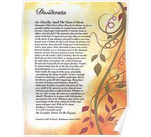 desiderata poem, golden autumn swirls Poster
